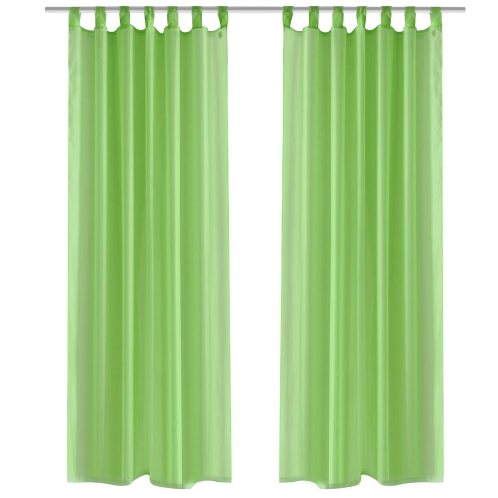 Cortina verde ma 140 x 175 cm 2 pe as for Cortinas verde agua