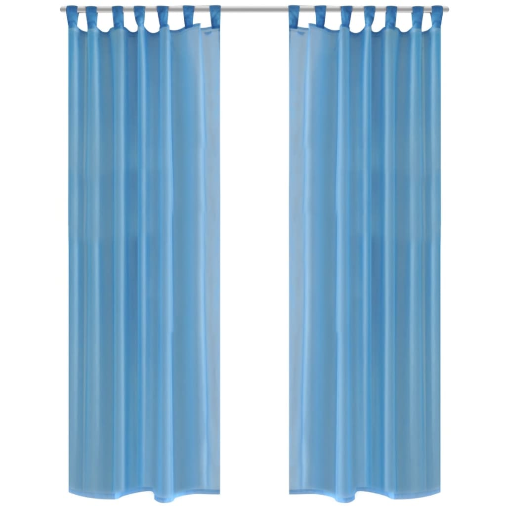 2-Cortinas-Multicolores-Transparentes-140-290X175-cm-Ventana-Decoracion-Visillo
