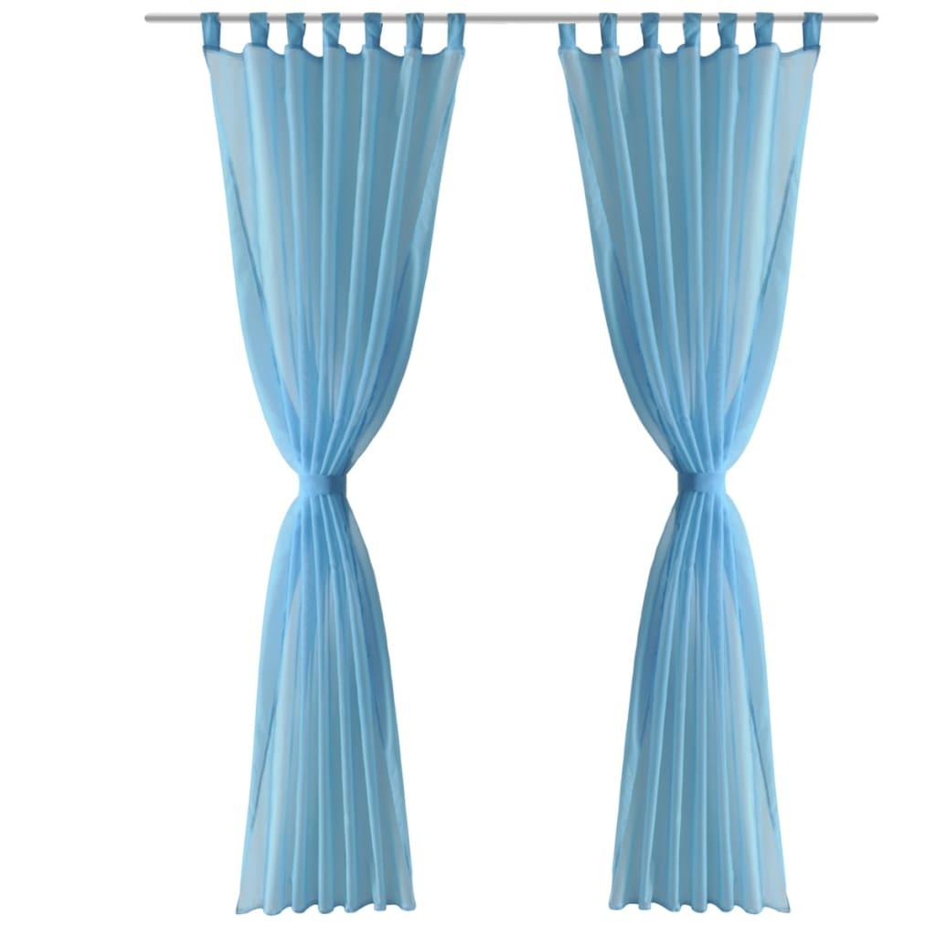 Tenda trasparente colore turchese 140 x 225 cm 2 pezzi - Tenda doccia trasparente ...