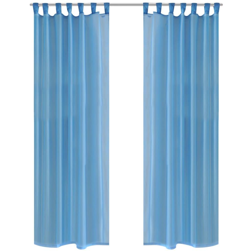 acheter rideau transparent turquoise 140 x 245 cm 2 pi ces. Black Bedroom Furniture Sets. Home Design Ideas