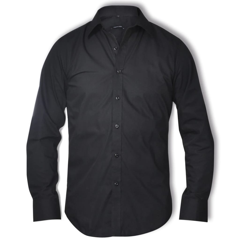 vidaXL Business Shirt Size S Black