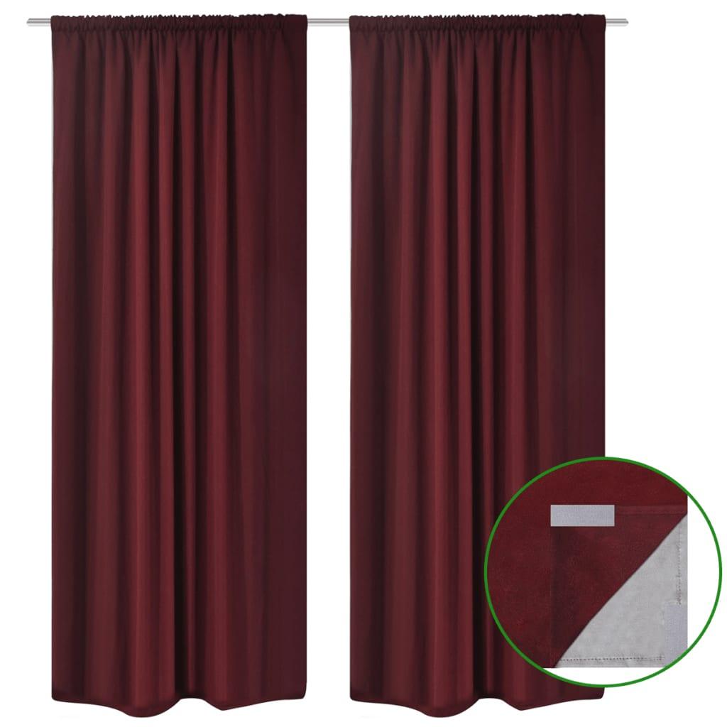 la boutique en ligne 2 pcs rideau blackout doubl occultant bordeaux 140 x 245 cm. Black Bedroom Furniture Sets. Home Design Ideas