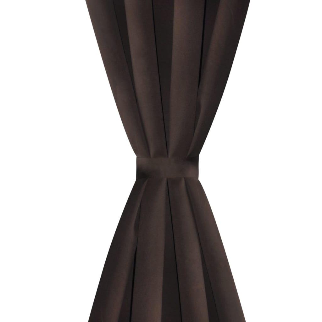 acheter 2 pcs rideau blackout occultant brun avec illets. Black Bedroom Furniture Sets. Home Design Ideas
