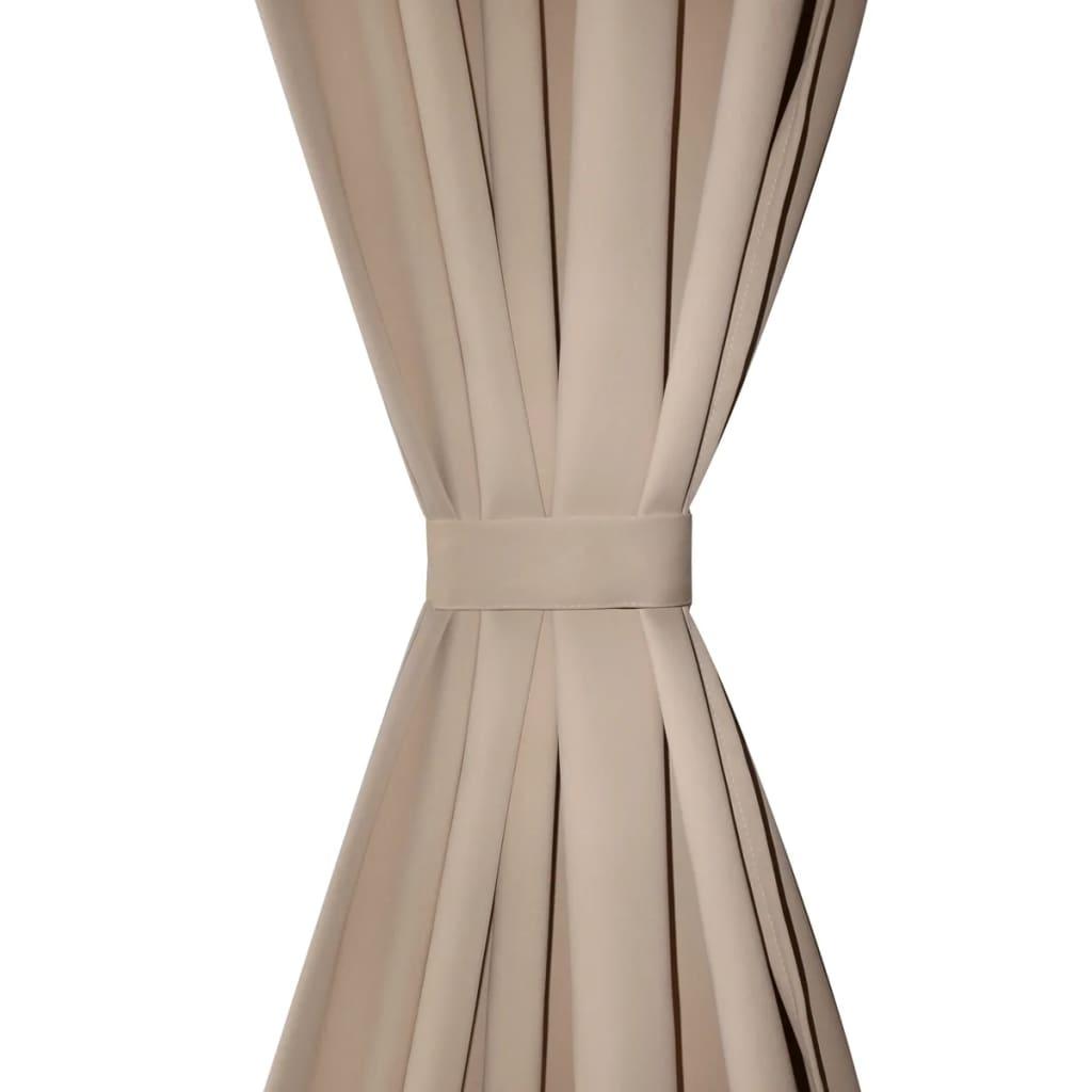 verdunkelungs vorh nge mit schlaufen 135 x 245 cm creme. Black Bedroom Furniture Sets. Home Design Ideas
