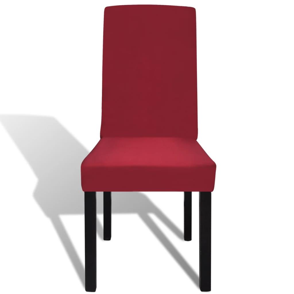Funda el stica para sillas con respaldo 6 piezas burdeos - Fundas elasticas para sillas ...