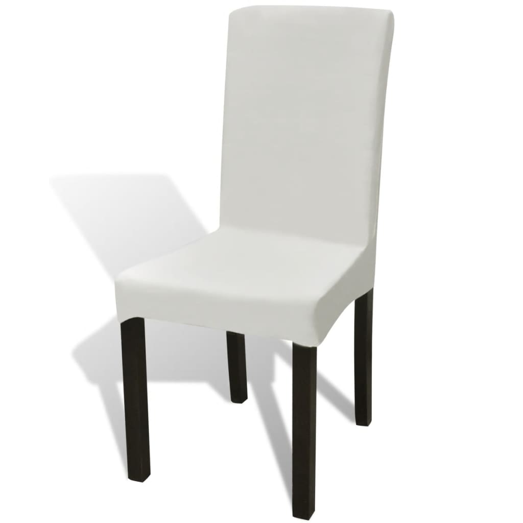 vidaXL 6 db nyújtható székhuzat krém