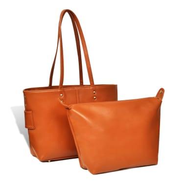 Damentasche Schultertasche Camel[2/5]