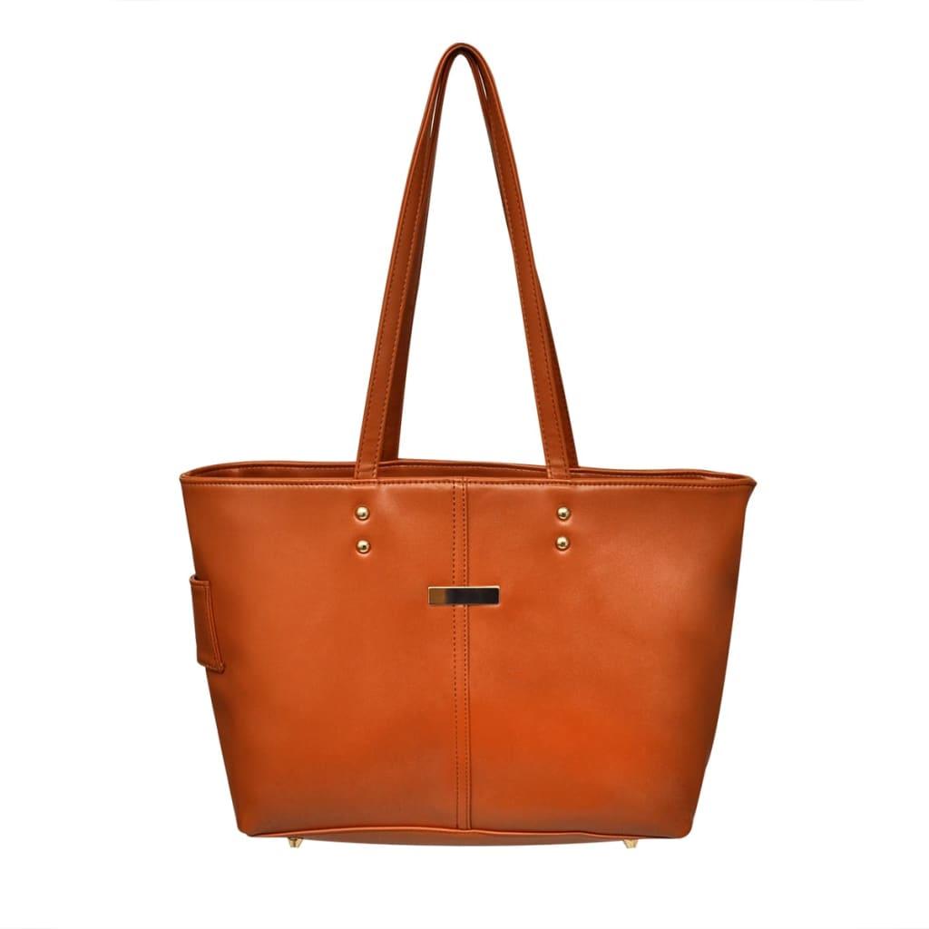 vidaXL Sac à main coloris camel Cet élégant sac à main 2 en 1 est un accessoire indispensable pour la gente féminin