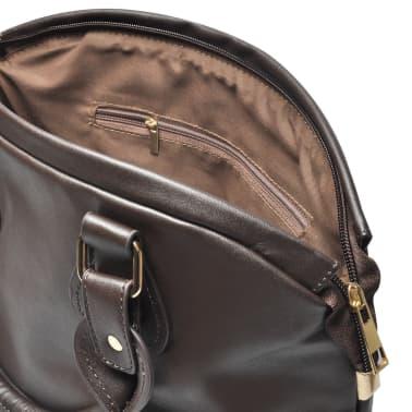 Damentasche Schultertasche Dunkelbraun[3/4]