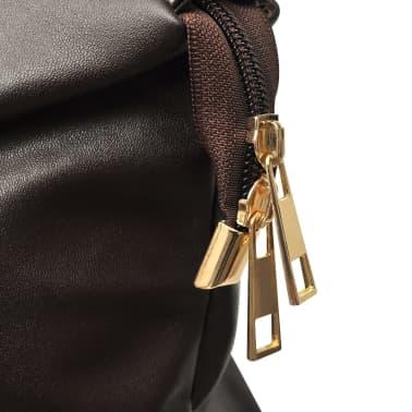 Damentasche Schultertasche Dunkelbraun[4/4]