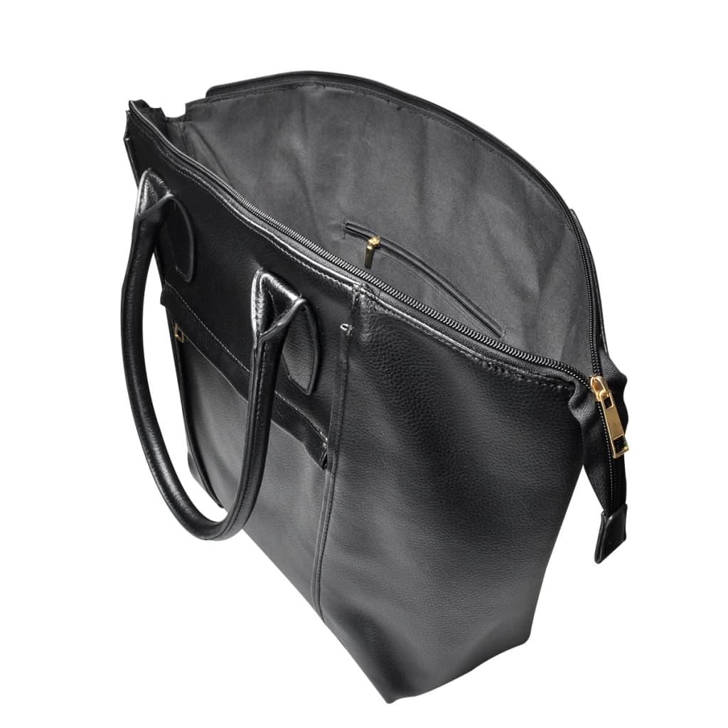 quadratische damentasche schultertasche handtasche schwarz. Black Bedroom Furniture Sets. Home Design Ideas