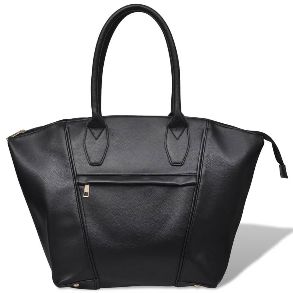 vidaXL Sac à main carré noir Cet élégant sac à main est un accessoire indispensable pour la gente féminine.