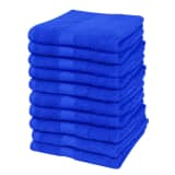 Home Guest Towel 100% Cotton 500gsm 30x50cm Royal Blue 10 pcs