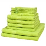 Home Towel Set of 12 100% Cotton 500 gsm Apple Green