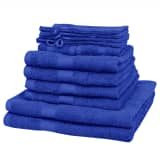 Home Towel Set of 12 100% Cotton 500 gsm Royal Blue