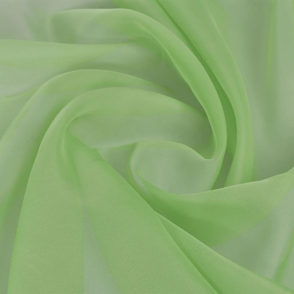 Voile fabric x 20 m green for Voile fabric