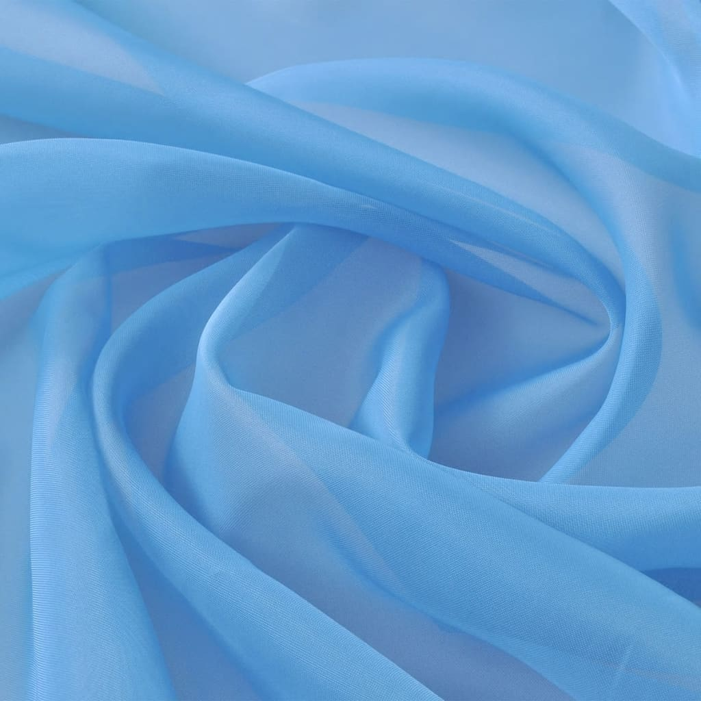 Voile fabric x 20 m turquoise for Voile fabric
