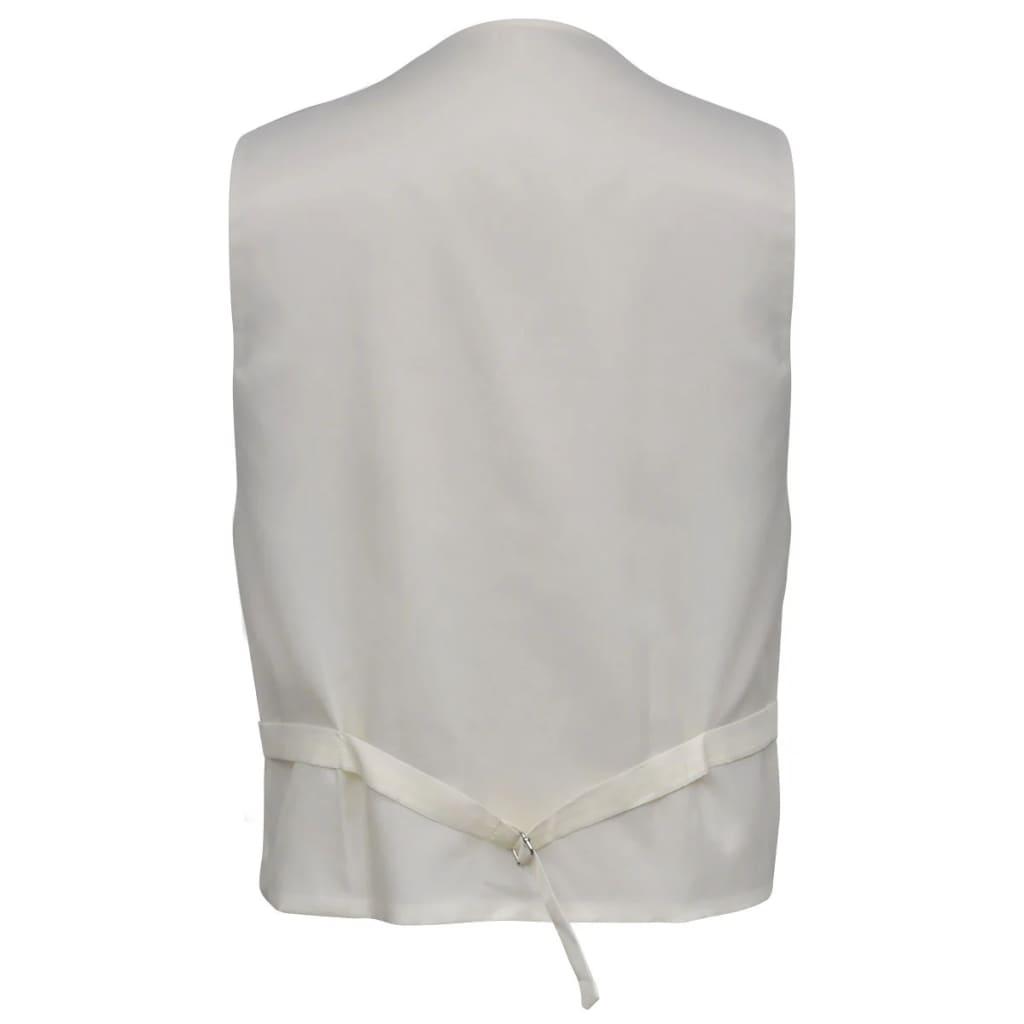 vidaXL-Accesorios-de-boda-para-hombre-chaleco-de-cachemira-color-crema-talla-52