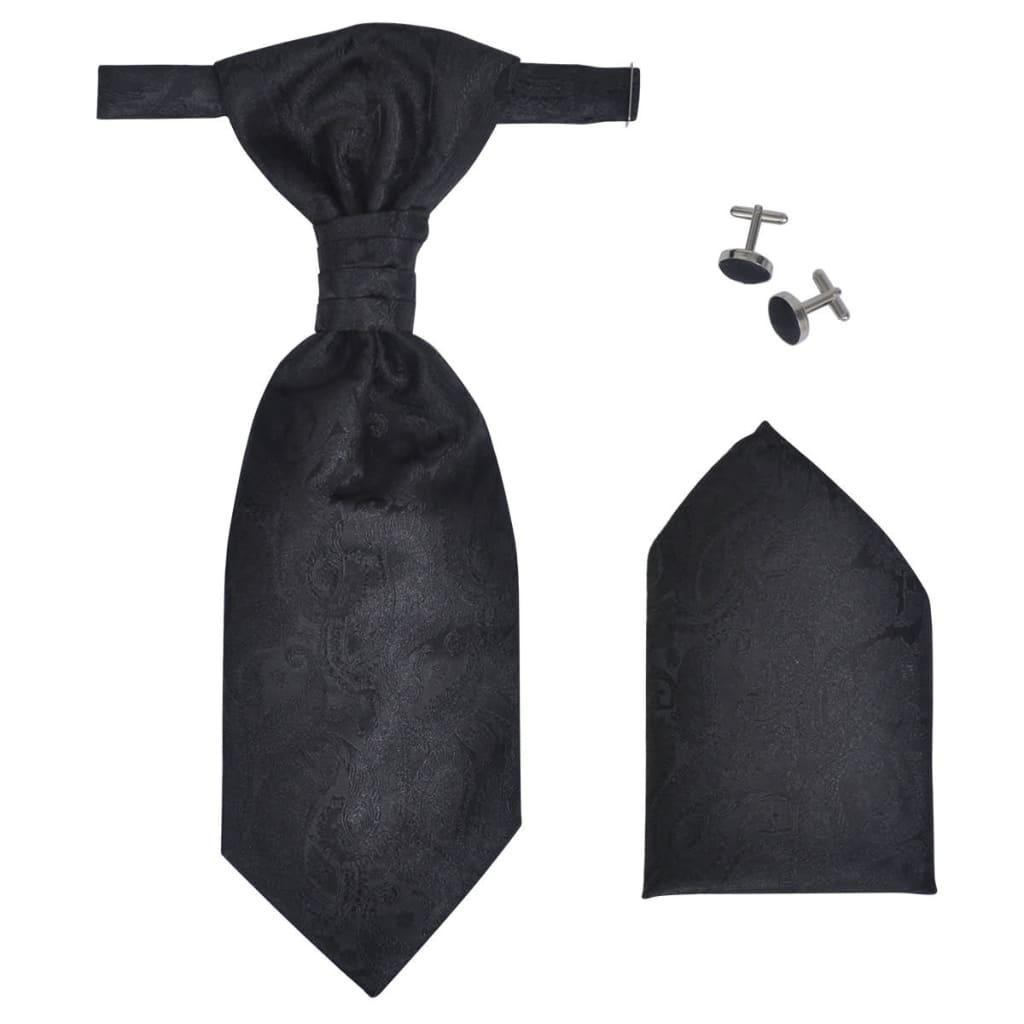 acheter set de gilet de mariage homme paisley taille 48 noir pas cher. Black Bedroom Furniture Sets. Home Design Ideas