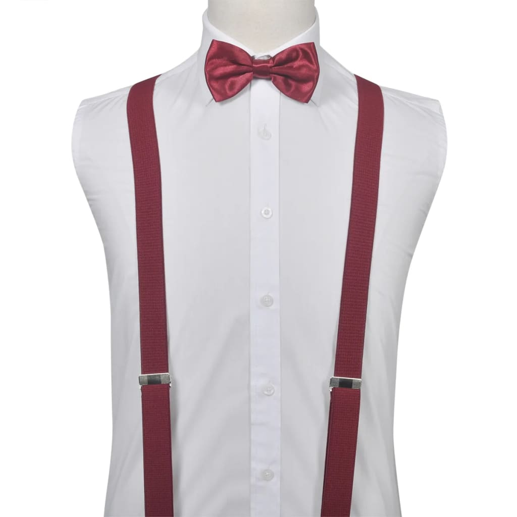 c936410e1d5e Men's Braces, Bow Tie and Hanky Set Black Tie/Tuxedo Accessories ...