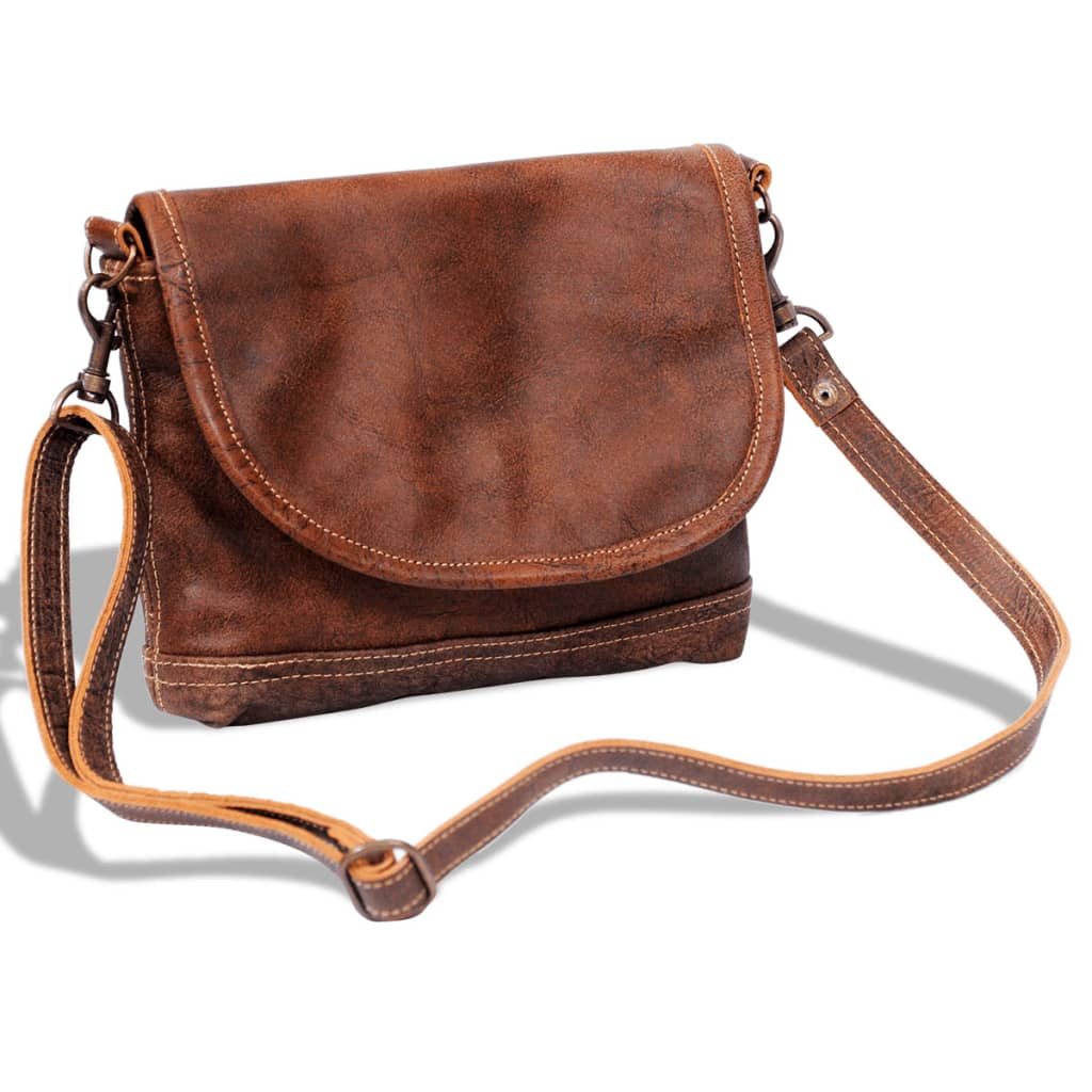 vida-xl-real-leather-shoulder-bag-with-flap-brown