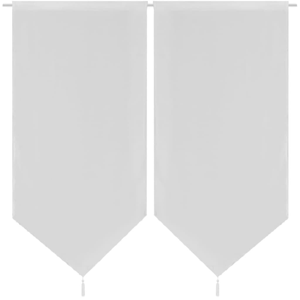 vidaxl-2-linen-look-sheer-kitchen-curtains-60-x-160-cm-white