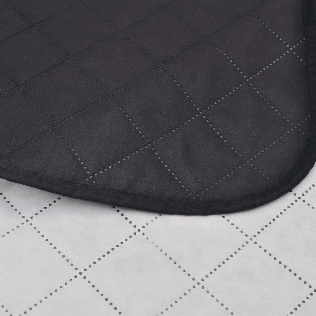 acheter couvre lits double c t s noir blanc 170 x 210 cm. Black Bedroom Furniture Sets. Home Design Ideas