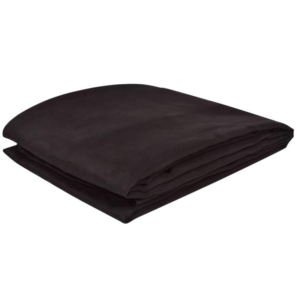 micro suede sofa berwurf tagesdecke braun 140 x 210 cm. Black Bedroom Furniture Sets. Home Design Ideas
