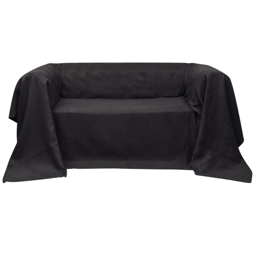 vidaXL Mikro szálas kanapé terítő / védőhuzat 140 x 210 cm antracit szín