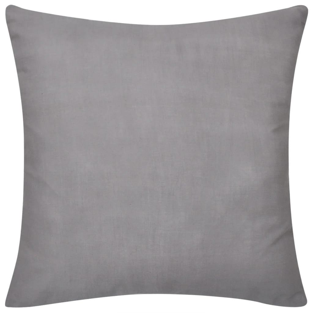 4 graue kissenbez ge baumwolle 40 x 40 cm g nstig kaufen. Black Bedroom Furniture Sets. Home Design Ideas