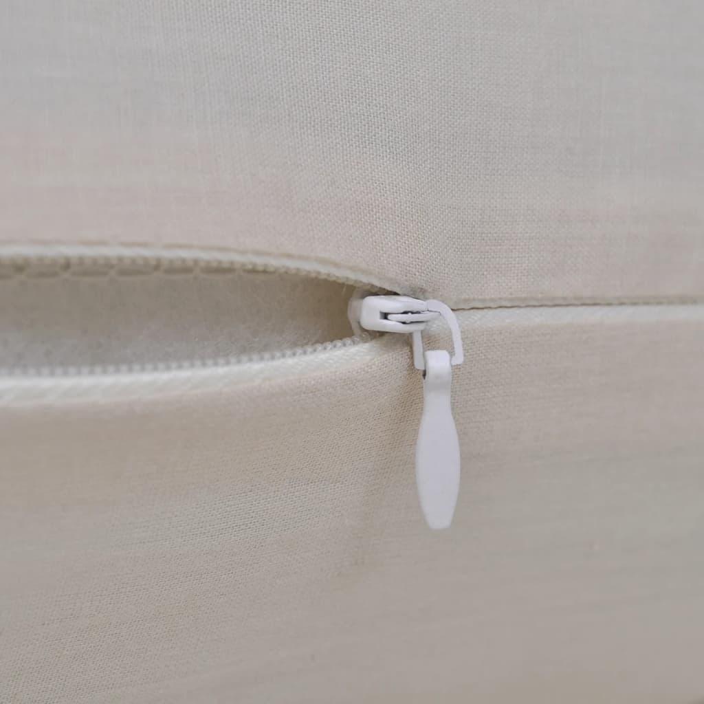 4 beige kissenbez ge baumwolle 50 x 50 cm. Black Bedroom Furniture Sets. Home Design Ideas