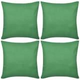 4 zelené povlaky na polštářky bavlna 80 x 80 cm