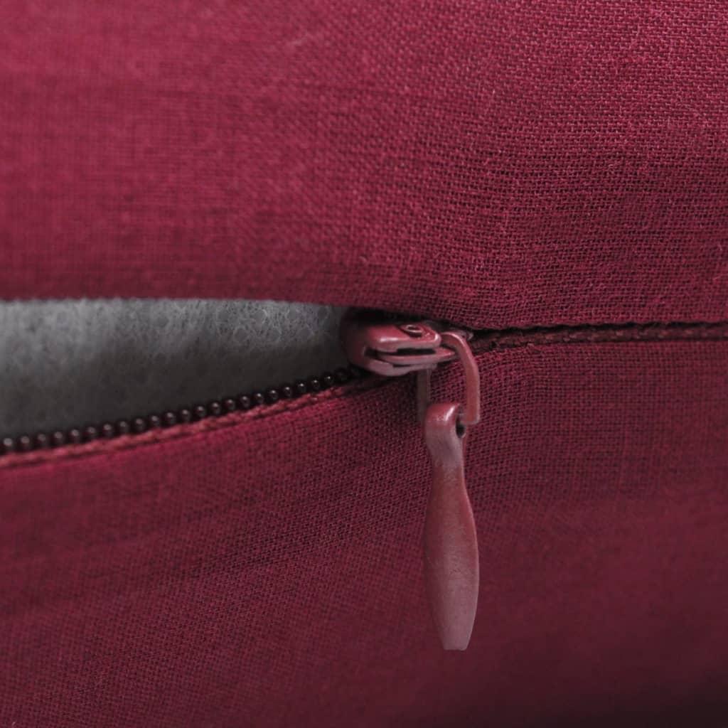 acheter 4 housses de coussin en coton 40 x 40 cm bordeaux. Black Bedroom Furniture Sets. Home Design Ideas