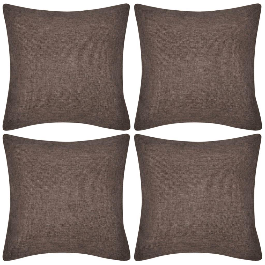 4x-Kissenbezug-Kissenhuelle-Leinen-Optik-Kissenbezuege-Deko-Kopfkissen-40-50-80-cm