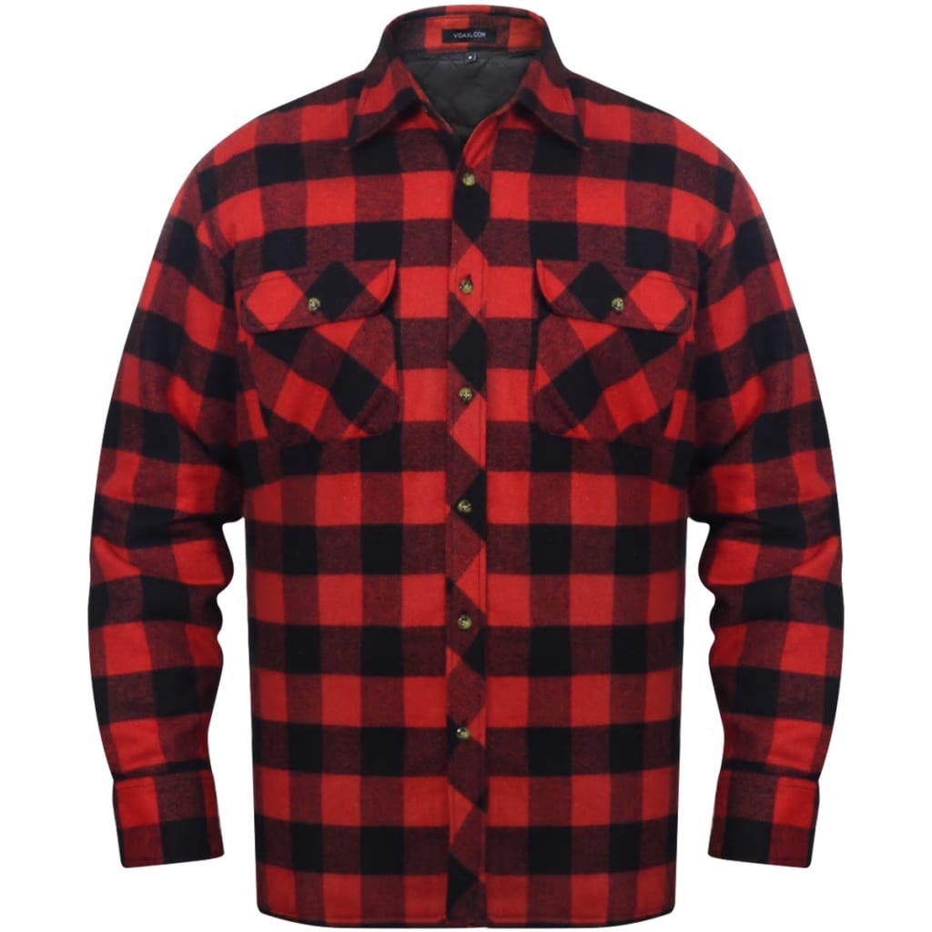 vida-xl-men-padded-plaid-flannel-work-shirt-red-black-checkered-size-xxl