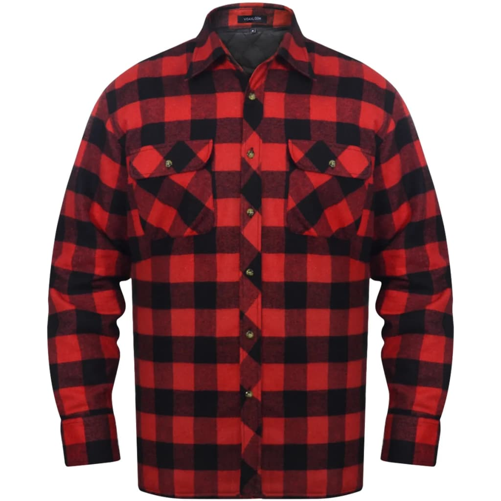 vida-xl-men-padded-plaid-flannel-work-shirt-red-black-checkered-size-xxxl