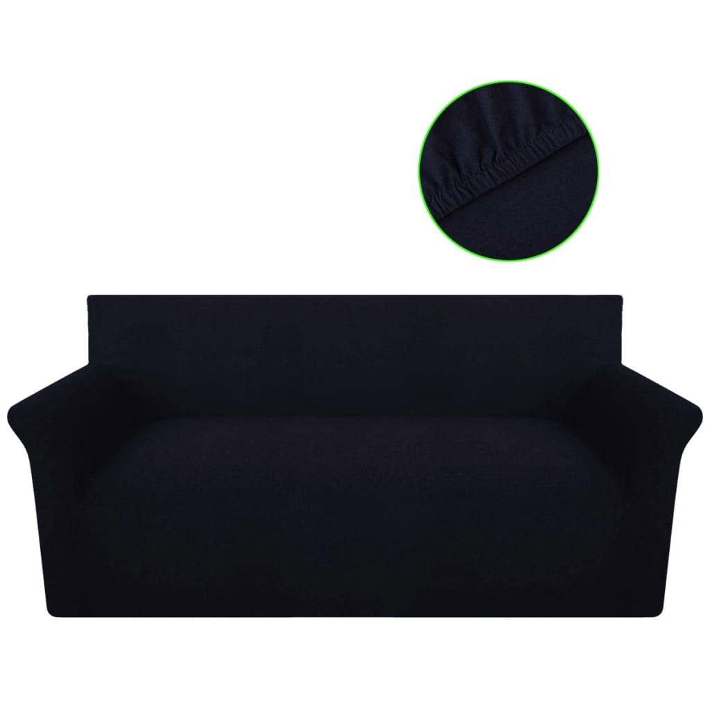 sofahusse sofabezug stretchhusse baumwoll jersey schwarz g nstig kaufen. Black Bedroom Furniture Sets. Home Design Ideas