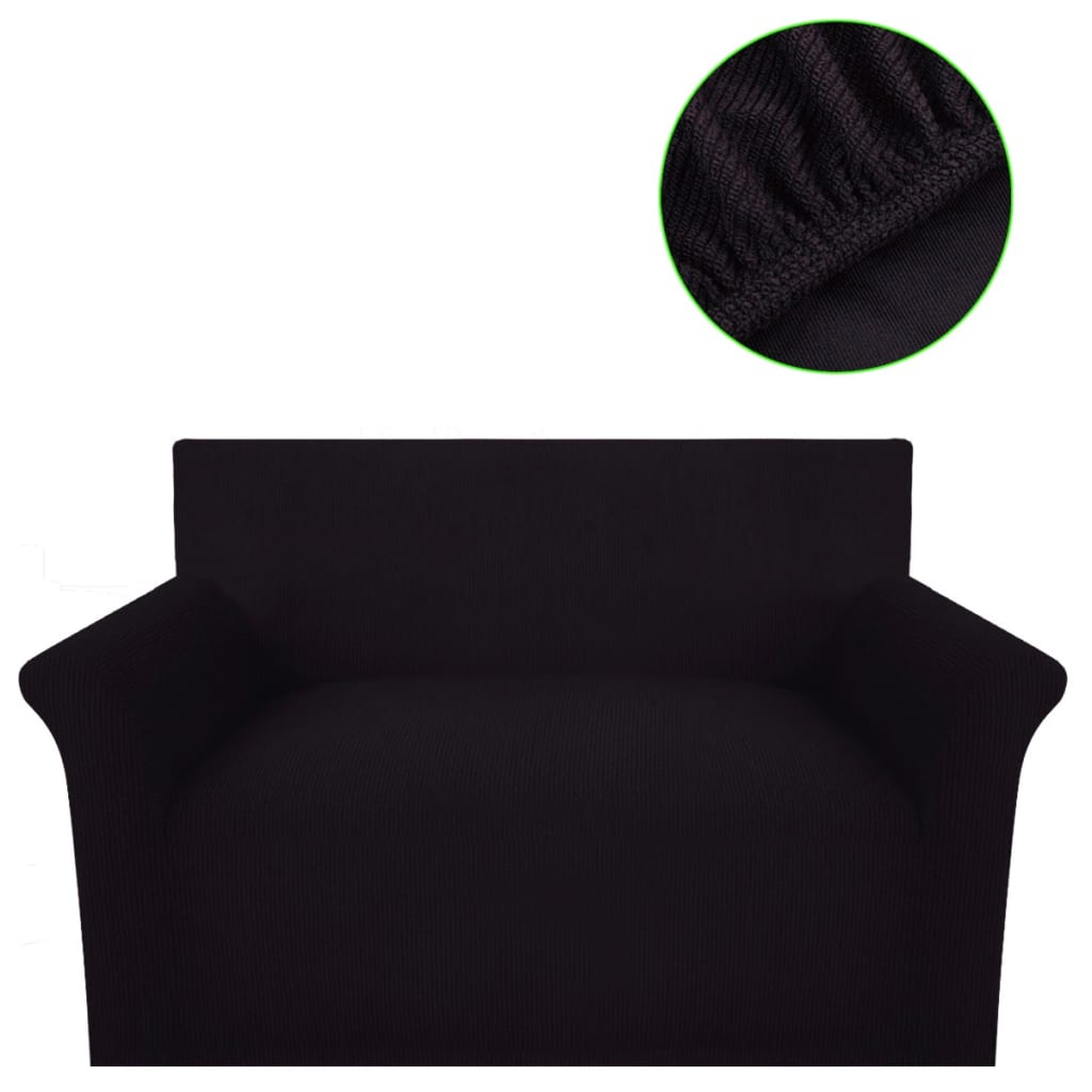 sofahusse sofabezug stretchhusse braun polyester rippstrick g nstig kaufen. Black Bedroom Furniture Sets. Home Design Ideas