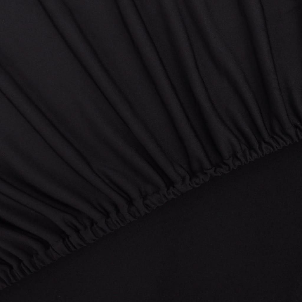 vidaxl sofahusse sofabezug stretchhusse schwarz polyester jersey g nstig kaufen. Black Bedroom Furniture Sets. Home Design Ideas