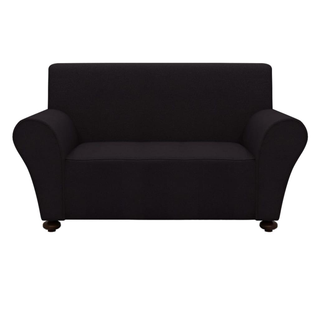 Afbeelding van vidaXL Bankhoes stretch polyester jersey zwart
