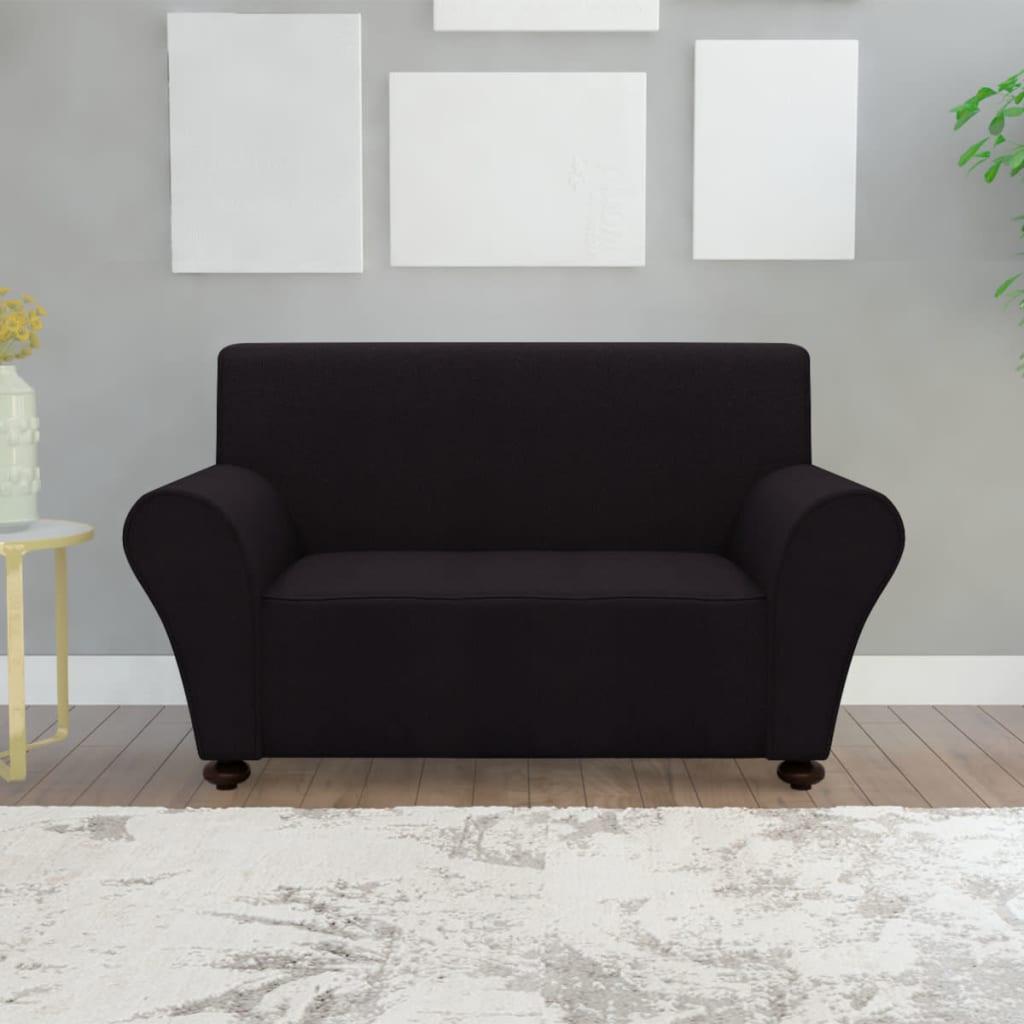 vidaXL rugalmas poliészter jersey kanapé huzat fekete