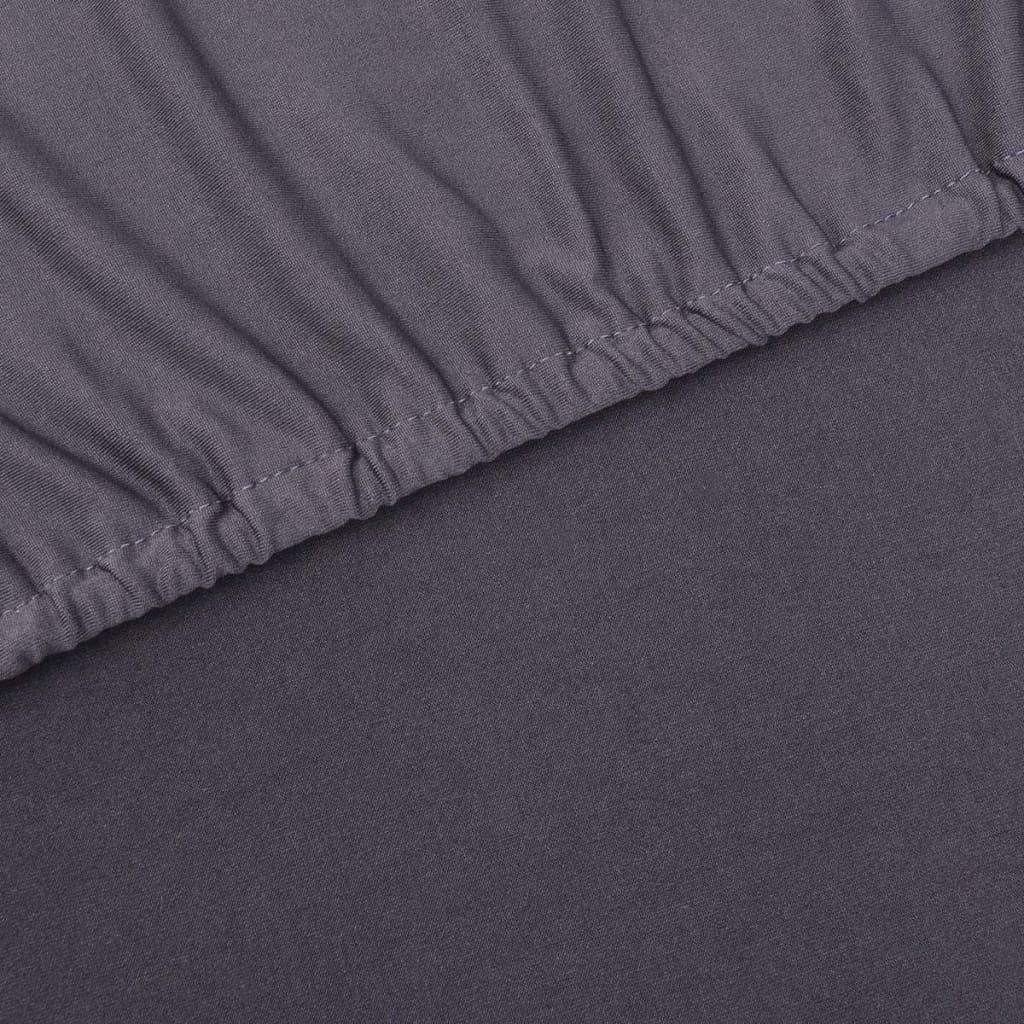 vidaxl sofahusse sofabezug stretchhusse anthrazit. Black Bedroom Furniture Sets. Home Design Ideas
