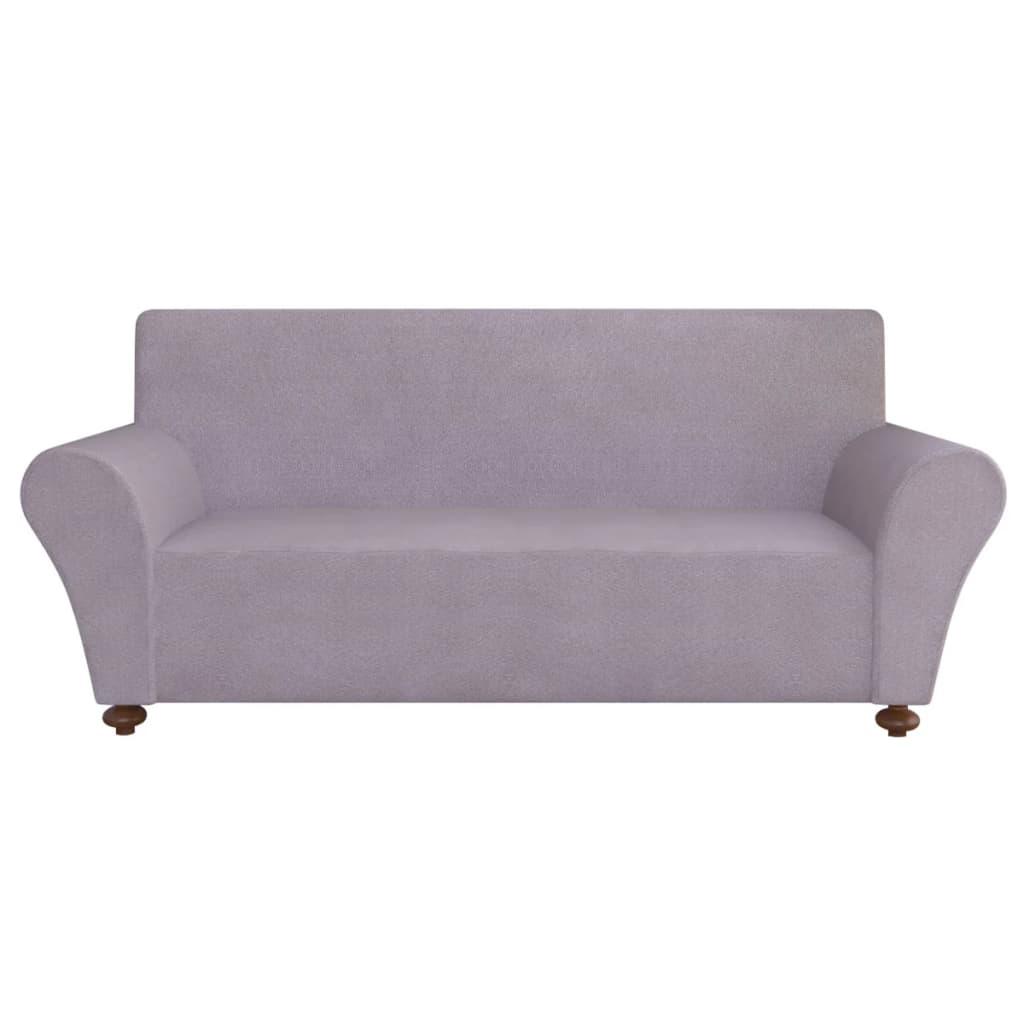 Acheter vidaxl housse de canap en polyester jersey - Housse de canape grise ...