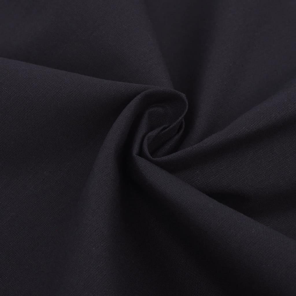 acheter vidaxl trois pi ces housse de couette en coton noir 200x200 80x80 cm pas cher. Black Bedroom Furniture Sets. Home Design Ideas