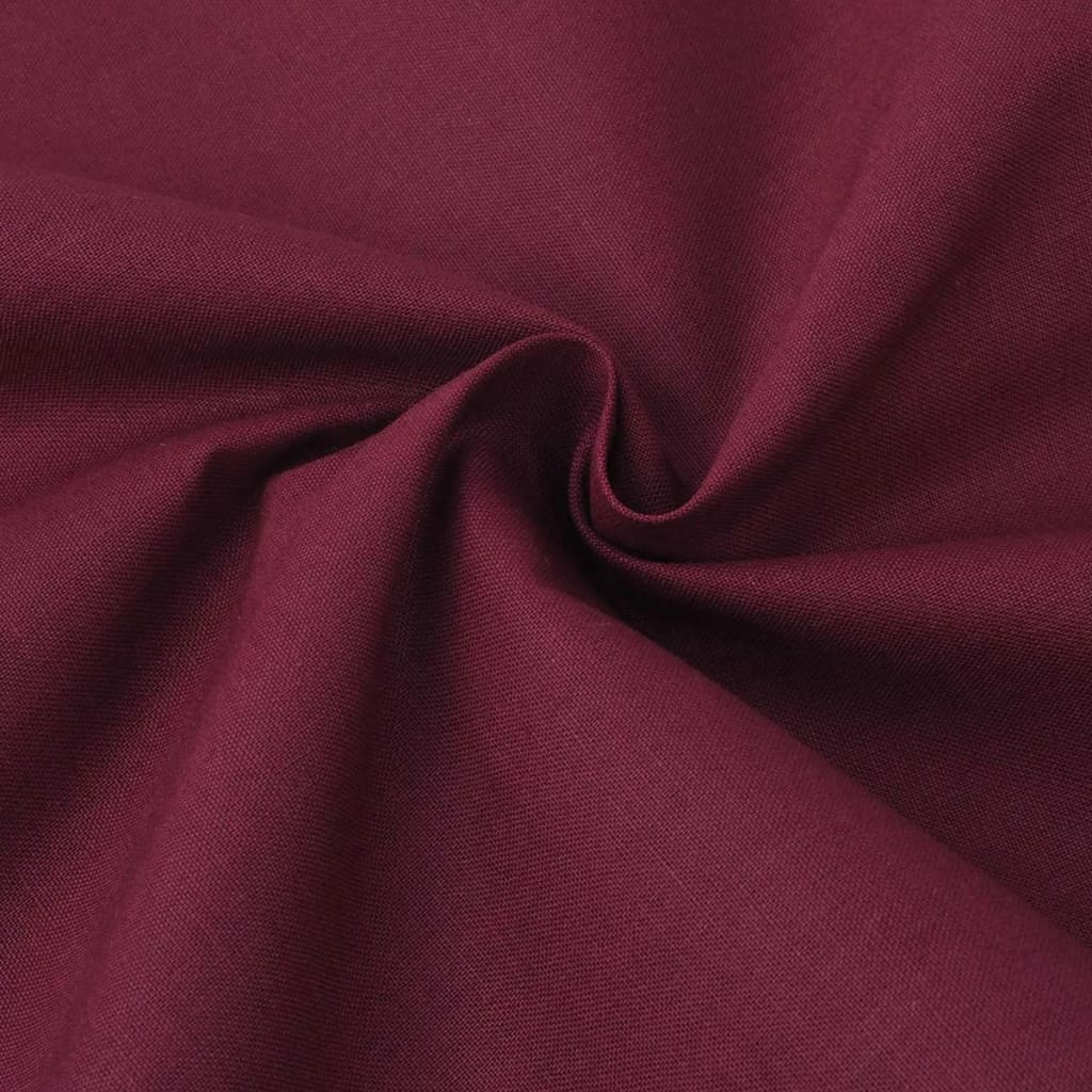 131184 vidaxl three piece duvet cover set cotton burgundy 200x200 60x70 cm. Black Bedroom Furniture Sets. Home Design Ideas