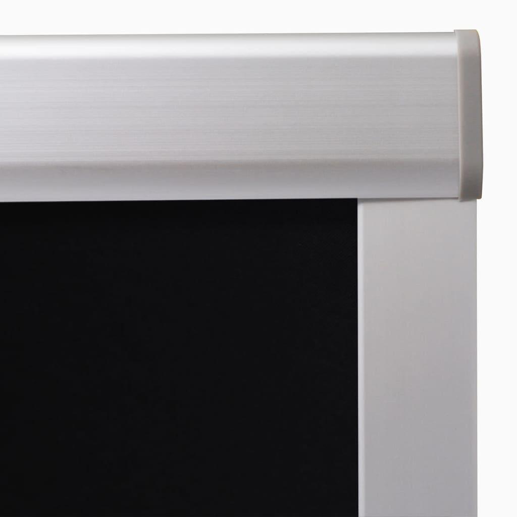 Vidaxl blackout roller blinds black 206 for Velux ggl 808 dimensions