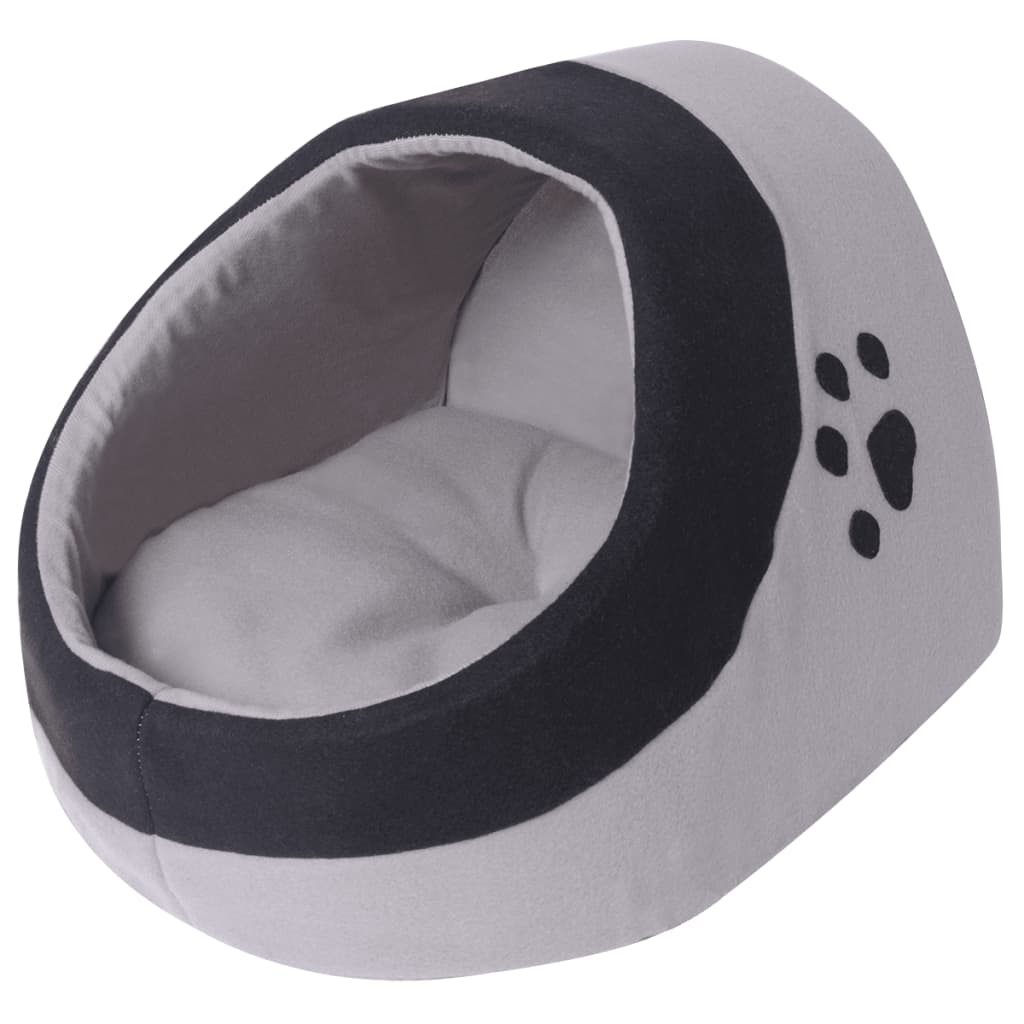 Cama-para-Mascotas-Tipo-Nido-Gatos-con-Cojin-Color-Gris-y-Negro-Medidas-M-L-XL