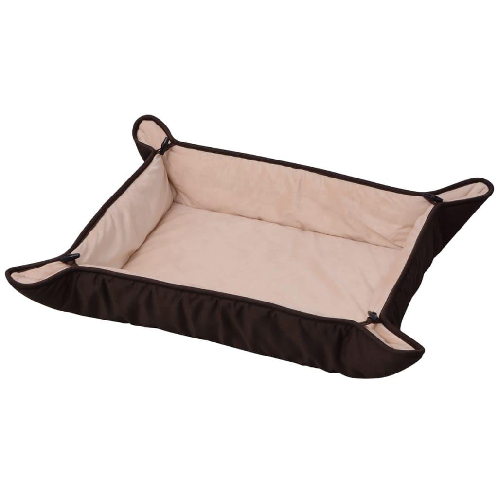 acheter vidaxl lit pour chiens marron 65 x 80 cm pas cher. Black Bedroom Furniture Sets. Home Design Ideas