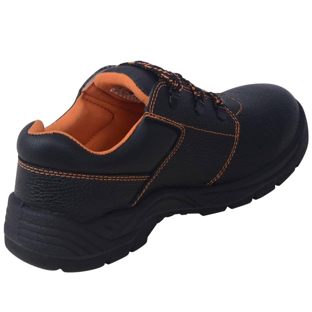 VidaXL Safety Shoes Black Size 44 Leather | VidaXL.co.uk