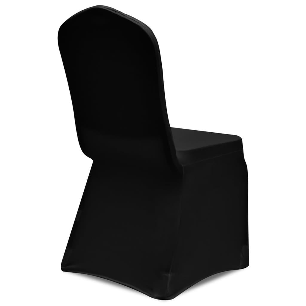 acheter vidaxl housse de chaise extensible 4 pcs noir pas. Black Bedroom Furniture Sets. Home Design Ideas